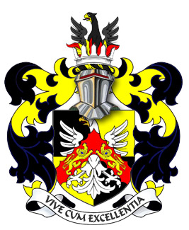 Ther Arms of George Mentz JD MBA, Seigneur of the Fief Thomas Blondel.