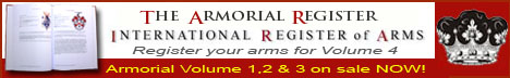 Register your coat of arms in Volume 3 of The Armorial Register - International Register of Arms