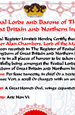 Click Here - Extra or replacement Certificates etc. Can an be purchased in the Heraldry Shop